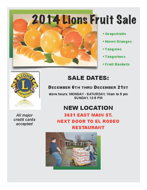 Fruit sale flyer and order form